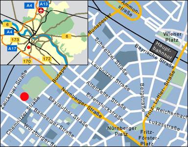Übersichtskarte Dresden